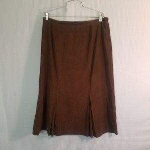 Nortonmcnaughton suede skirt